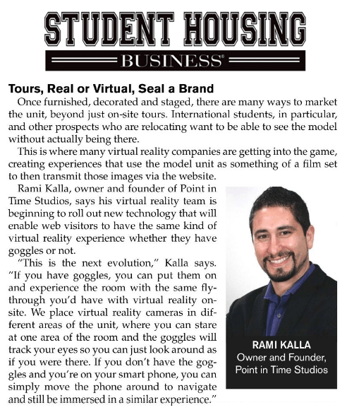 Tours, real or virtual, seal a brand article