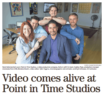 Video comes alive at Point in Time Studios