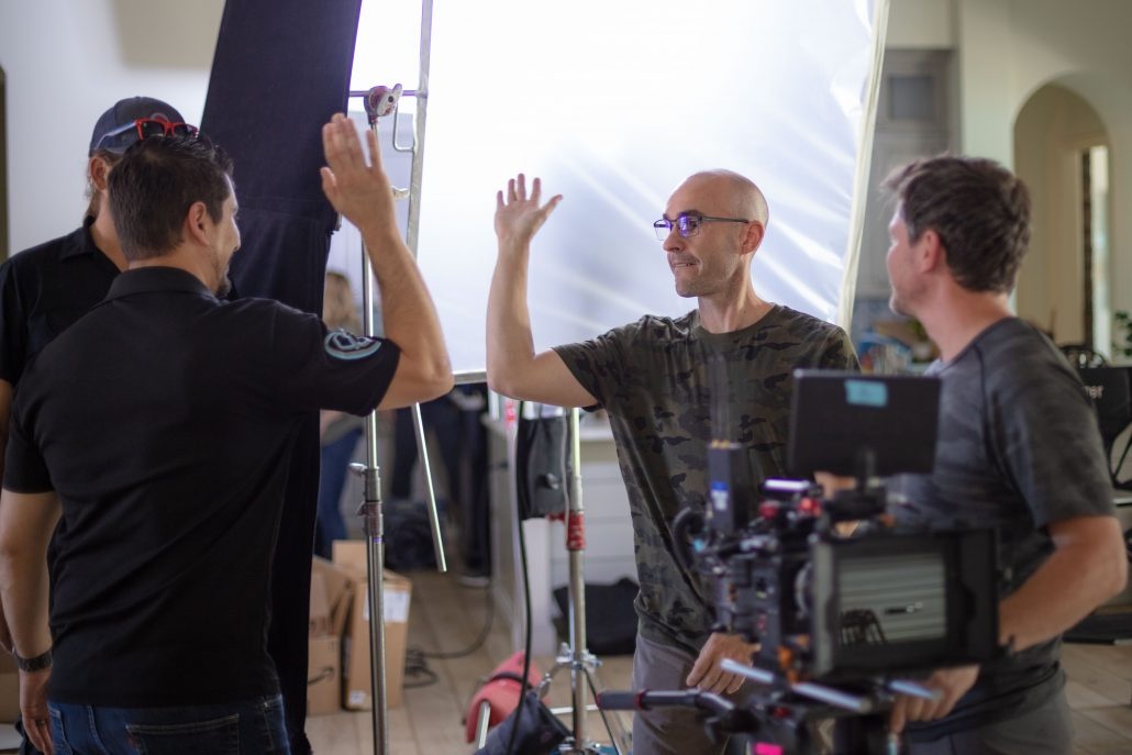 A highfive to close out one of our Brooklyn Bedding video productions