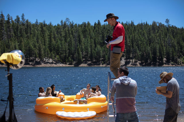 Northern Arizona is full of Pine trees and big bodies of water. This makes a great backdrop for many films.